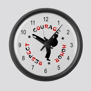 Karate Student Large Wall Clock