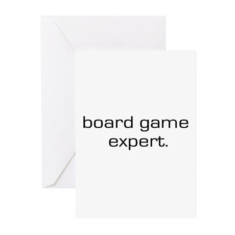 Board Game Expert Greeting Cards (Pk of 10)