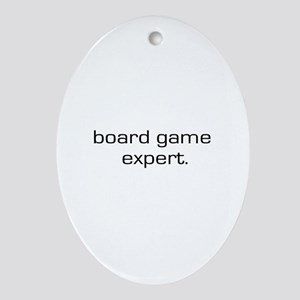 Board Game Expert Oval Ornament