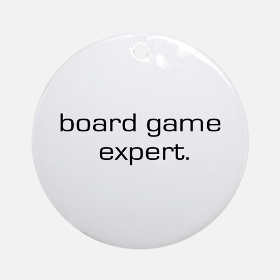 Board Game Expert Ornament (Round)