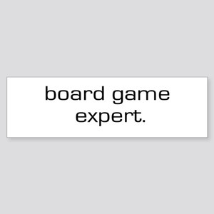 Board Game Expert Bumper Sticker