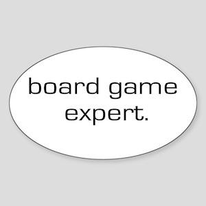Board Game Expert Oval Sticker