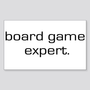 Board Game Expert Rectangle Sticker