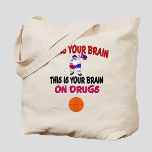 HOCKEY THIS IS YOUR BRAIN Tote Bag