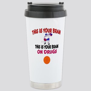 HOCKEY THIS IS YOUR BRAIN Travel Mug