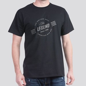Birthday Born 1940 The Legend Dark T-Shirt
