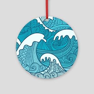 Ocean Waves Ornament (Round)