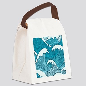 Ocean Waves Canvas Lunch Bag