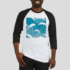 Ocean Waves Baseball Jersey