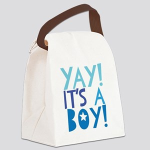It's a Boy Canvas Lunch Bag