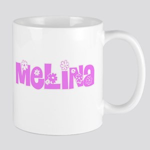 Melina Flower Design Mugs