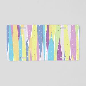Pastel Stripes Aluminum License Plate