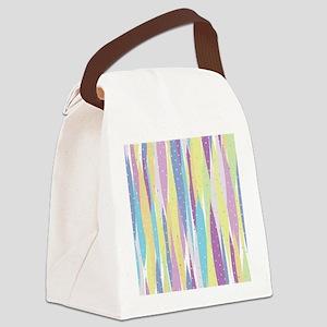Pastel Stripes Canvas Lunch Bag