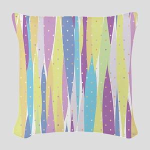 Pastel Stripes Woven Throw Pillow