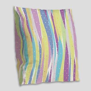 Pastel Stripes Burlap Throw Pillow