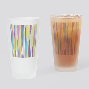 Pastel Stripes Drinking Glass