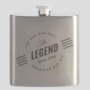 Birthday Born 1950 The Legend Flask