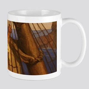 One more step Mr. Hands - N.C. Wyeth painting Mugs