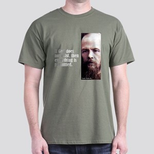 "Dostoevsky ""If God"" Dark T-Shirt"