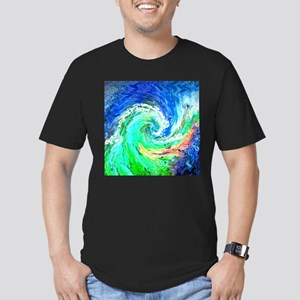 Waves Men's Fitted T-Shirt (dark)
