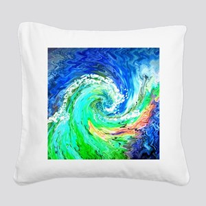 Waves Square Canvas Pillow
