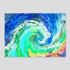 Waves 5'x7'Area Rug
