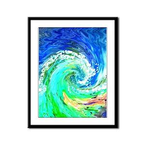 Waves Framed Panel Print