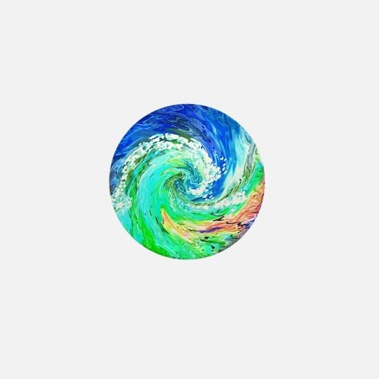 Waves Mini Button