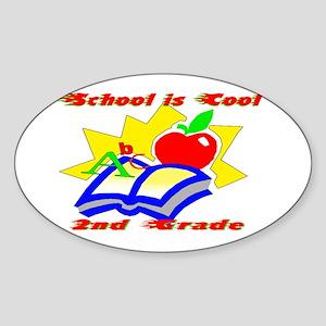 2nd Grade School is Cool Oval Sticker