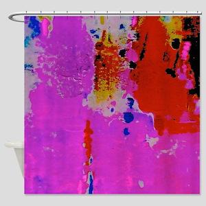 Paint Splotches Shower Curtain