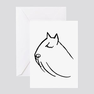 Bouvier Dog Head Sketch Greeting Card