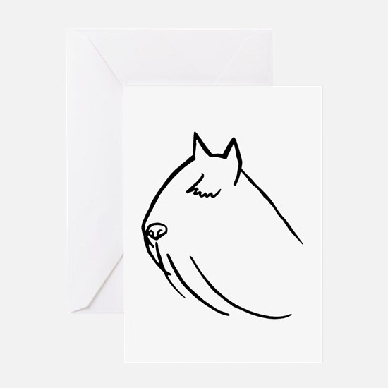 Bouvier Dog Head Sketch Greeting Card