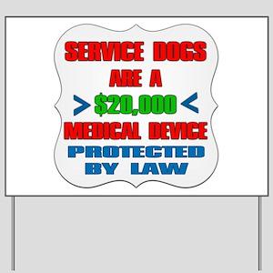 SERVICE DOG Yard Sign