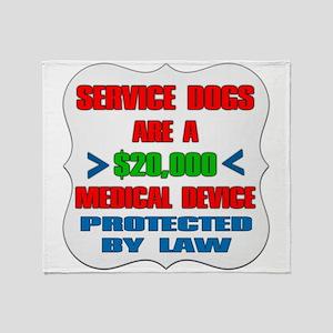 SERVICE DOG Throw Blanket