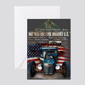 Hot Rod Invasion Greeting Card