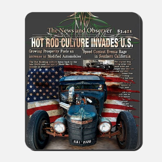 Hot Rod Invasion Mousepad