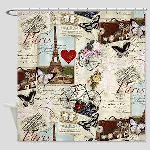 Paris Memories Shower Curtain