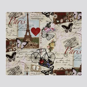 Paris Memories Throw Blanket