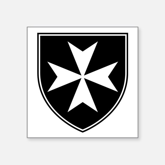 "Knights Hospitaller Square Sticker 3"" x 3"""