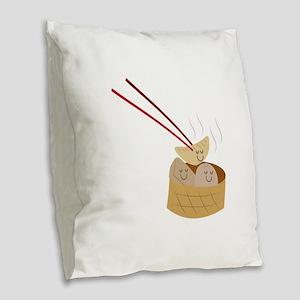 Dim Sum Burlap Throw Pillow