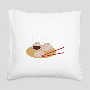 Steamy Dim Sum Square Canvas Pillow