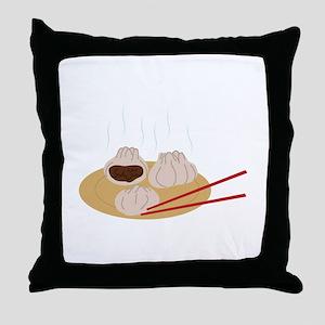 Steamy Dim Sum Throw Pillow