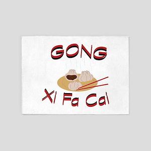 Gong Xi Fa Cai 5'x7'Area Rug