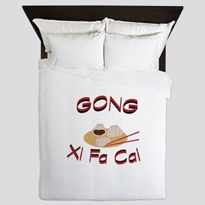 Gong Xi Fa Cai Queen Duvet