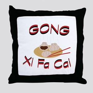 Gong Xi Fa Cai Throw Pillow