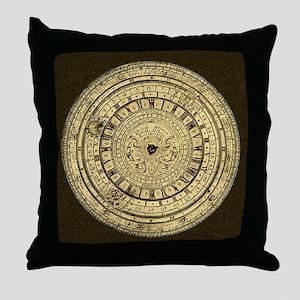 old gutenberg clock Throw Pillow