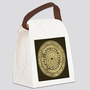 old gutenberg clock Canvas Lunch Bag