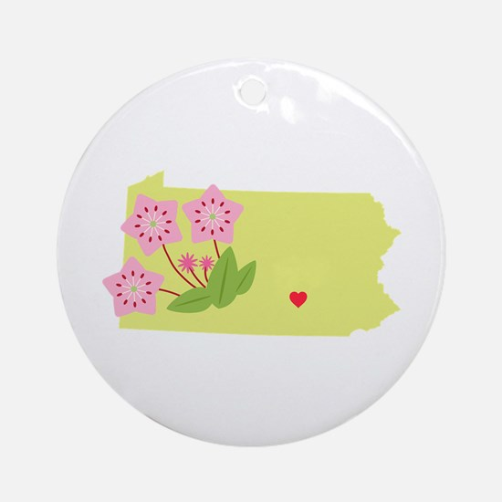 Pennsylvania State Ornament (Round)