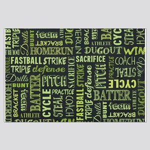 Fastpitch Softball Game Chalkboard Large Poster