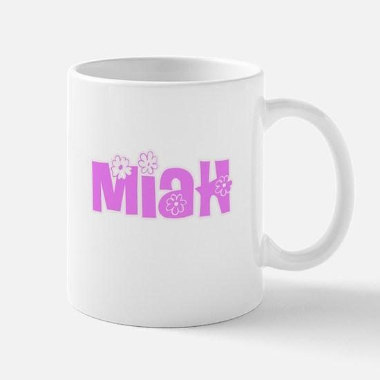Miah Flower Design Mugs